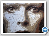David Bowie: ceramic mosaic 62x62cm